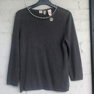 Anthropologie sweater with pin
